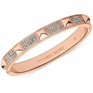 MICHAEL KORS PYRAMID Rose Gold Tone Bracelet
